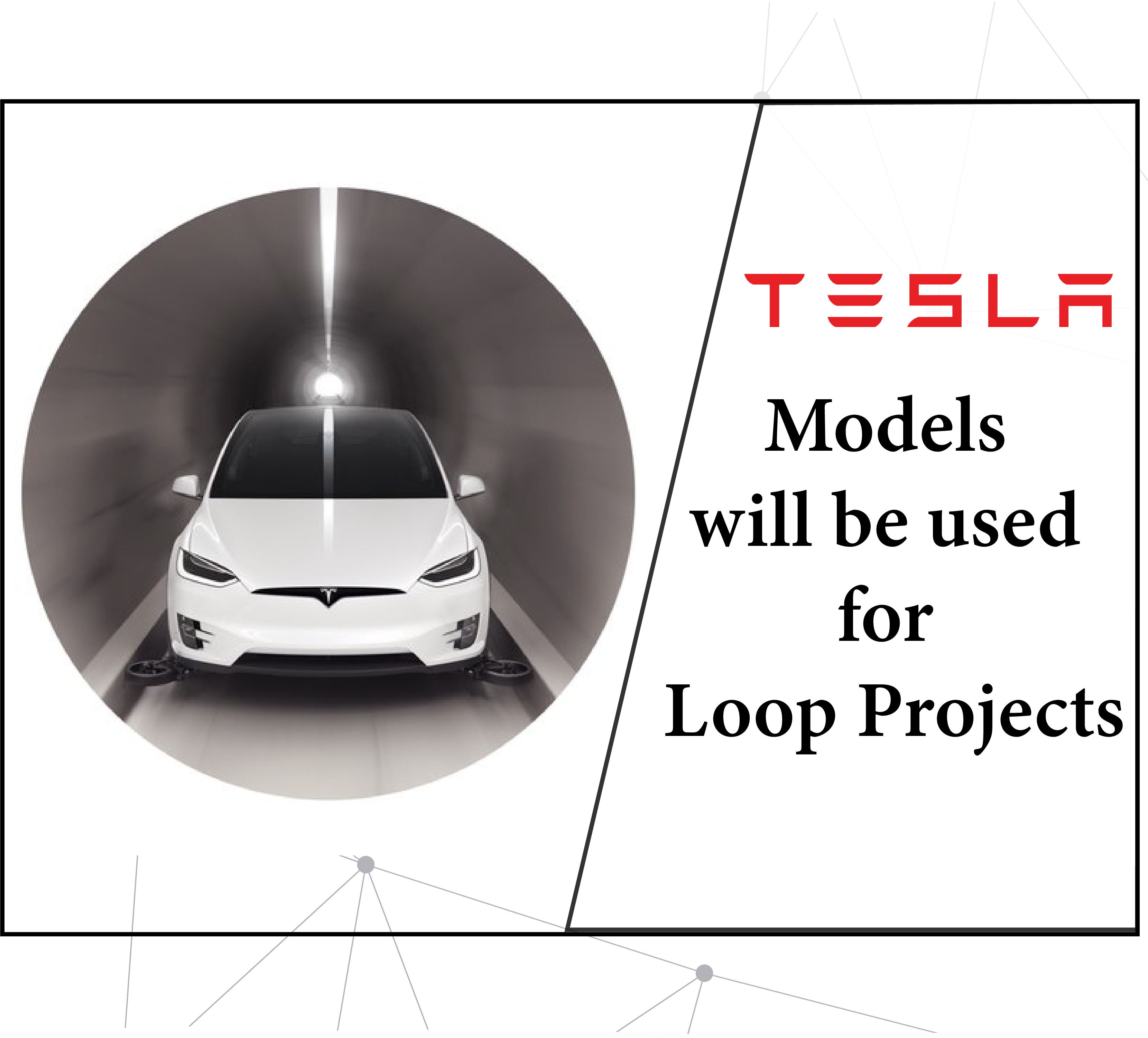 Tesla Models will be used for the Loop Projects
